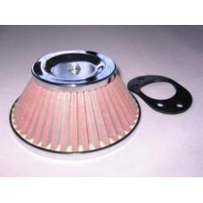 Cone Air Filter - Chrome - 1.75