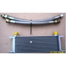 13 Row Oil Cooler + S/S Braided Hoses